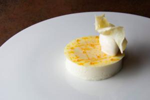 dessert au lait cru au Manoir de la Régate - Paul Stefanaggi